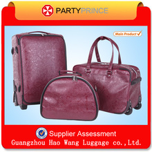 personalized unique luggage sets bags PU leather material
