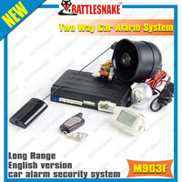 Magicar M903F with remote engine start long range two way car alarm system