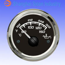 12V/24V 52mm oil temperature meter for generator diesel engine parts Installation Instructions Wires and resistance