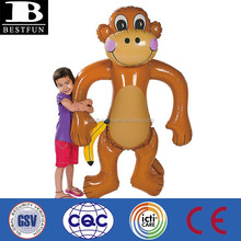 China manufacturer inflatable jumbo monkey customized vinyl blow up animals for party decoration