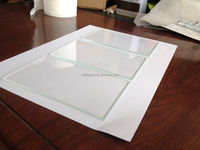 Sell high quality 3.2mm 140x85mm ultra clear low iron float glass with rough edges
