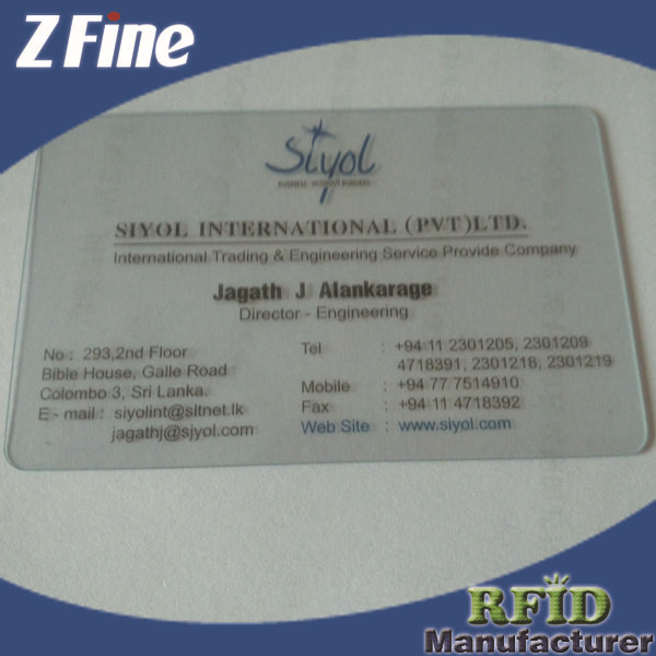 Clear Plastic Business Card Cheap Buy Clear Plastic