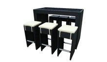Diana Outdoor high chair stools with cushion or imitated patio wicker bar furniture
