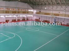 Indoor Basketball Court Sports Vinyl Flooring,PVC Basketball Floor