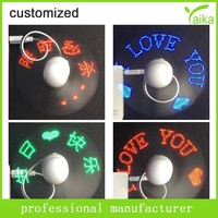 portable usb desk led programmable fan with strong wind mini usb fan with led clock