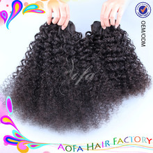 Wholesale Virgin Cuticle Remy Hair Extension Brazilian Kinky Curly Human Hair