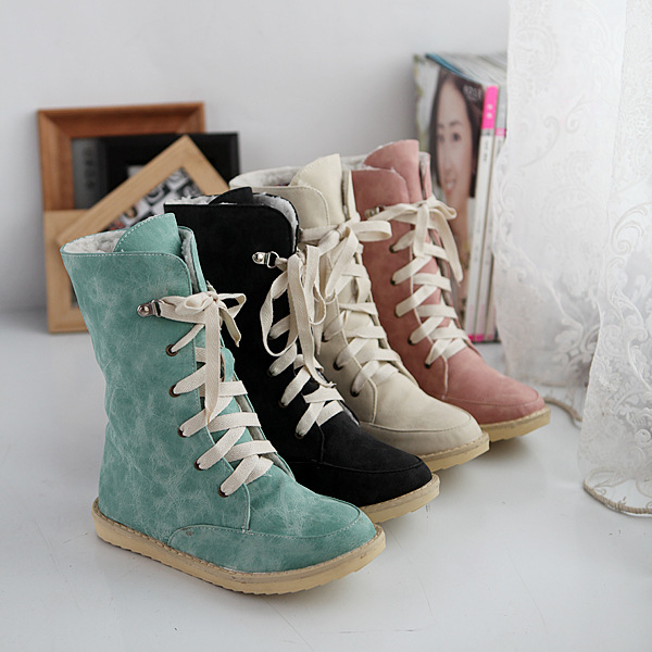 2014 fashion PU nubuck leather lace front leather shoes women's ...