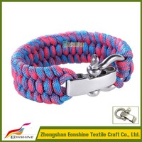 2016 WIde Adjustable Clasp Paracord Bracelet To Supplies