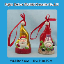 2015 popular christmas hanging ornament with santa claus / snowman pattern