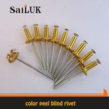 Peel Type Blind Rivets/ Hot sales color peel blind rivets