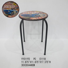 vintage metal bar stools, metal round shape chair for home