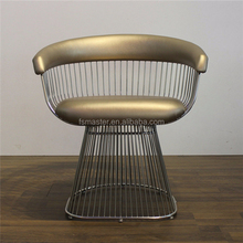 leisure wire metal cafe soft platner Lounge Chair