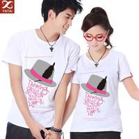 custom design cheap designer brand couple t shirt