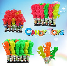 Cheap price sweets candy toy with tude plastic toy