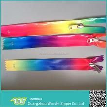 Zipper factory/colorful Nylon+PVC waterproof zipper long chain or finished zipper