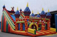 Children Funny pvc inflatable slide for amusement water park & backyard
