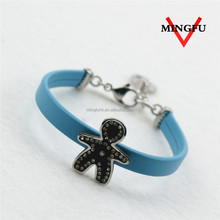 7.6inch vogue famous hand band mens leather bracelet