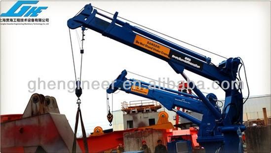 Telescopic Deck Cranes : T m telescopic knuckle boom ship deck crane view