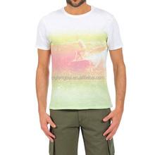 Custom Digital Print Cotton Spandex Men Sublimation T Shirt Wholesale