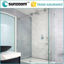SUNZOOM shower enclosure, frameless shower, stainless steel enclosure