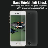 High-quality nano screen protector for iphone 5 6-7H hardness anti shock shield shatter resistant