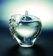 Crystal apple for home wedding decorative glass fruits