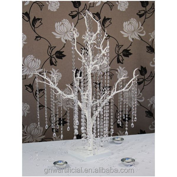 White artificial dry tree branches for wedding decoration