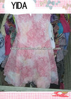used clothes/ cheap used clothing, /fashion and shinning silk dress