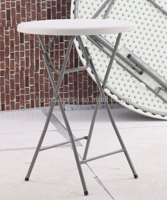 81cm plastic folding round cocktail table height bar table - Table pvc pliante ...