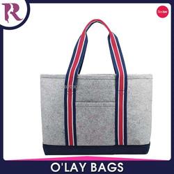 China wholesale cheap felt tote bag,lady hand bag