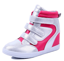 China shoe factory wholesale women running shoes hidden heel comfort and breathable sneaker shoe high top fancy female sneakers