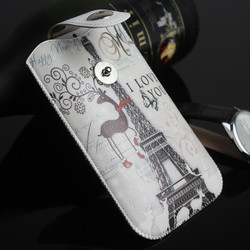 Superior quality custom cheap mobile phone pouches, new leather phone case