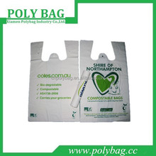 HDPE grocery packing vest handle bags with printed