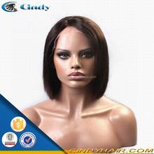 wholesale top grade unprocessed human hair half head wig