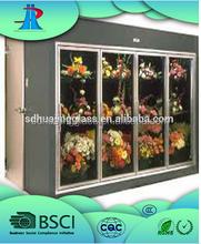 Top Quality Upright Flowers Display Refrigerator Glass Door