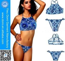 New design high neck young girls in bikini