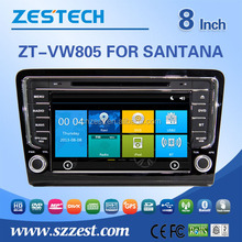8inch touch screen car dvd car gps For VW SANTANA BORA 2013 with DVR OBD function