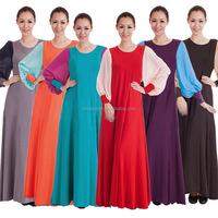 musilm abaya women long dress chiffon islamic clothing