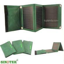 SINOTEK solar panel cell phone charger usb 5v 10w folding solar charging station