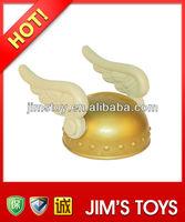 Plastic gold angel helmet angel wings for adult