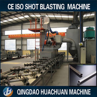 Steel Tube / Steel Pipe Shot Blasting Machine With high quality