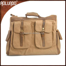 New Arrival Female Leather Canvas Bag