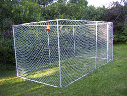3.8m x 2.3m x 1.8m Chain link dog outdoor containment fence dog run dog kennel