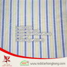 Three colors solid color hotel bedding cotton stripe fabric