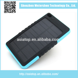 Outdoor Travel Waterproof Solar Power Bank Portable Solar 6000mah Battery For Mobile Phone Charger Power Bank