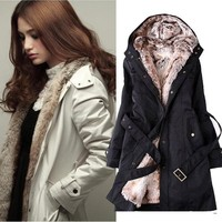 Girl's Winter Warm Coat Outerwear Quilted Jacket cheap overcoats 3450#