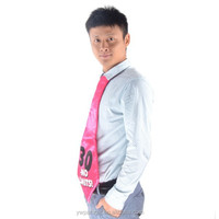 pink 30 year old birthday party tie with elastic band