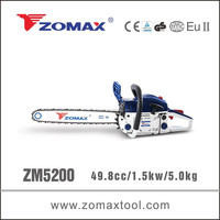 Zomax power tools CE/GS certificate ZM5200 handy wood cutting machine tree cutting use