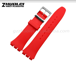 cheap 17|19mm waterproof high quality silicone watch strap Wholesale 3PCS