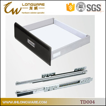 Heavy duty tandem metal box drawer slides with soft close